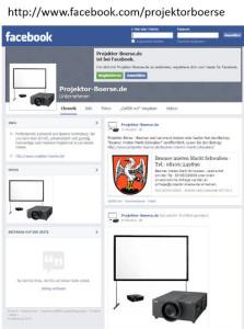 Facebook Fanpage ist online - www.projektor-boerse.de