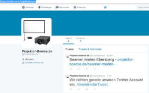 twitter Account ist online - www.projektor-boerse.de